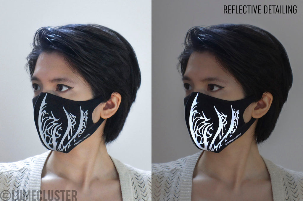 Reflective Phoenix Face Mask (Lumecluster X Wing & Weft)