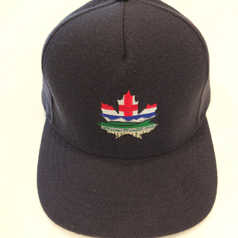 Alberta Maple Leaf Blue Wool Snapback