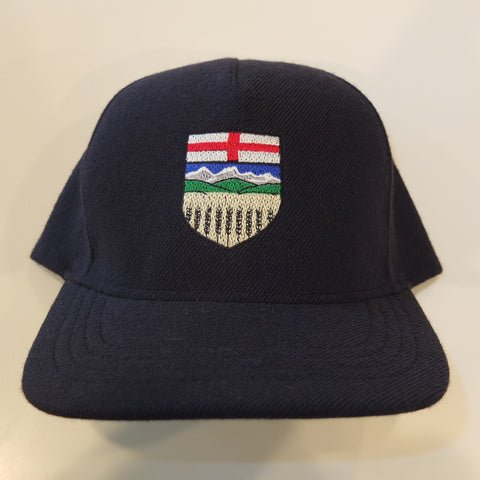 Alberta Shield Blue Wool Snapback Hats