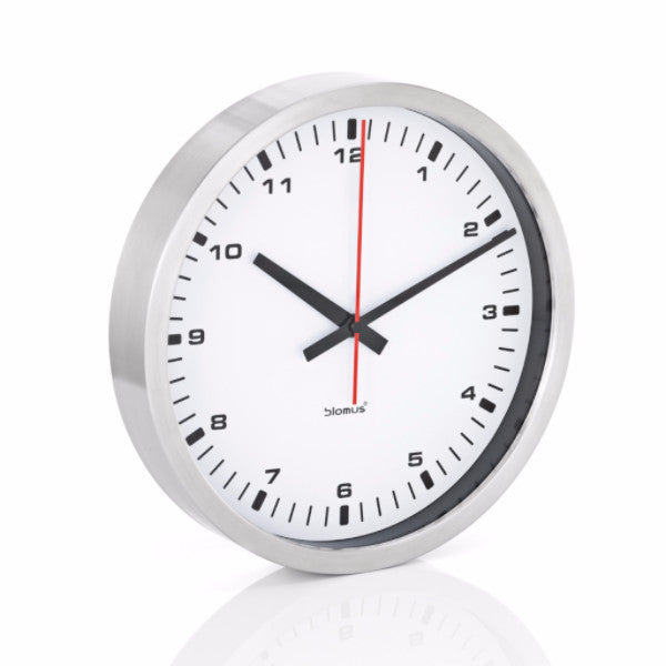 Stainless Steel Wall Clock - Medium - Black