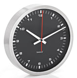 Stainless Steel Wall Clock - Large - Black