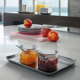 Glass Condiment Server with Stainless Steel Lid