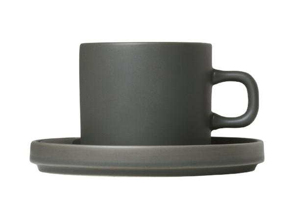Coffee Cups With Saucers - Agave Green