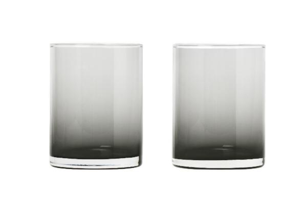 MERA Glasses Tall - 7 Ounce - Set of 2 - Smoked Glass