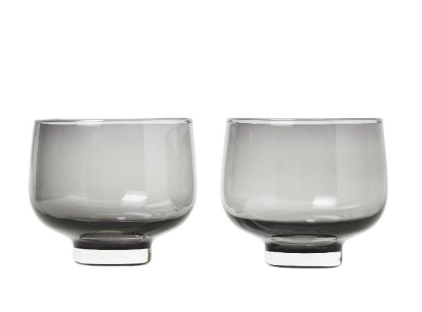 FLOW glasses - 7 oz - set of 2 - smoked