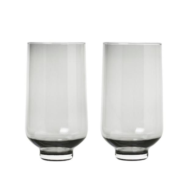 FLOW glasses - 14 oz - set of 2 - smoked