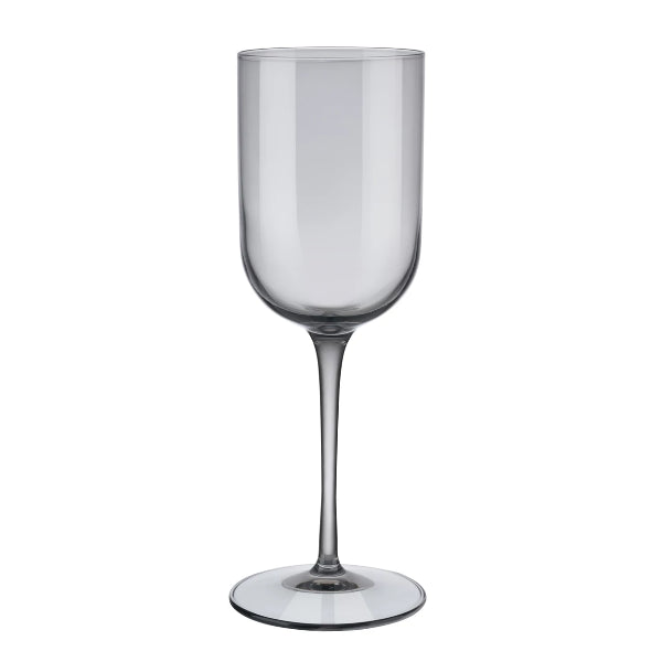 FUUM White Wine Glasses - 9.5 Ounce - Set of 4 - Smoke