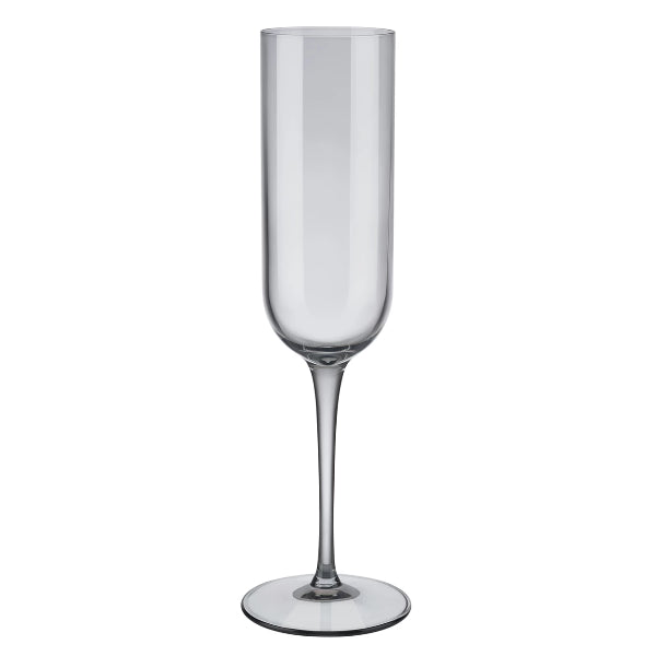 FUUM Champagne Flute Glasses - 7 Ounce - Set of 4 - Smoke