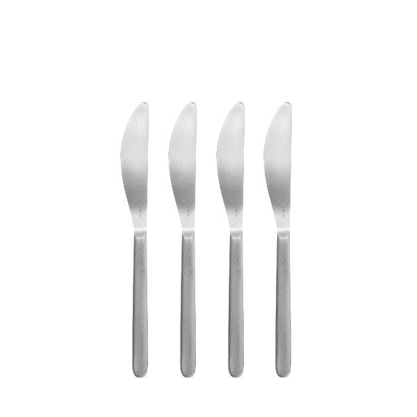 Stainless Steel Butter Knives - Set of 4 - Stella