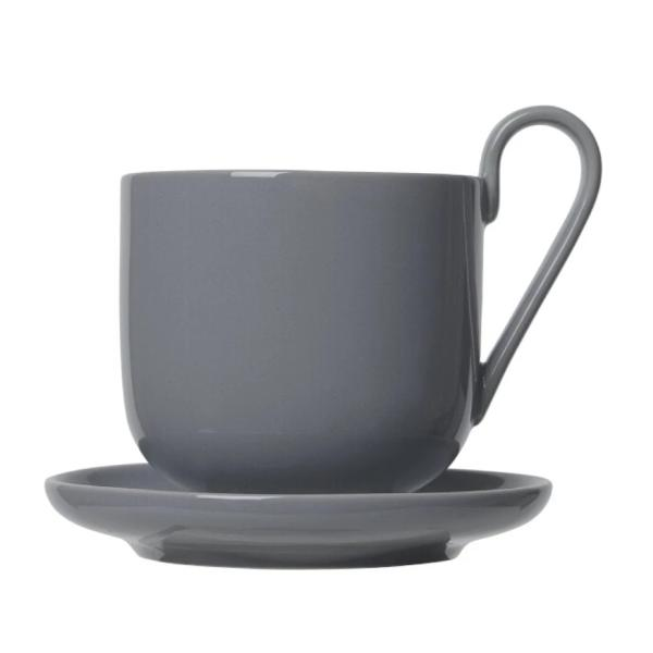 RO Coffee Cups With Saucers Sharkskin