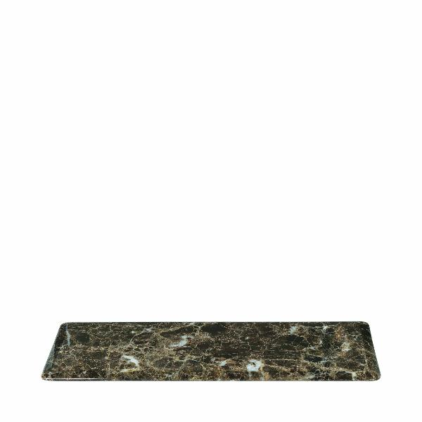 PESA Marble Serving Plate Brown