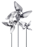 Pinwheel in Stainless Steel with Traditional 4 Petals, Large