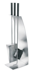 Stainless Fireplace Tool Set W/Bow Front - 4 Pc.