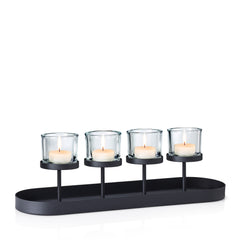Tealight Holder With Oval Tray Base
