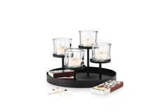 Tealight Holder With Round Tray Base