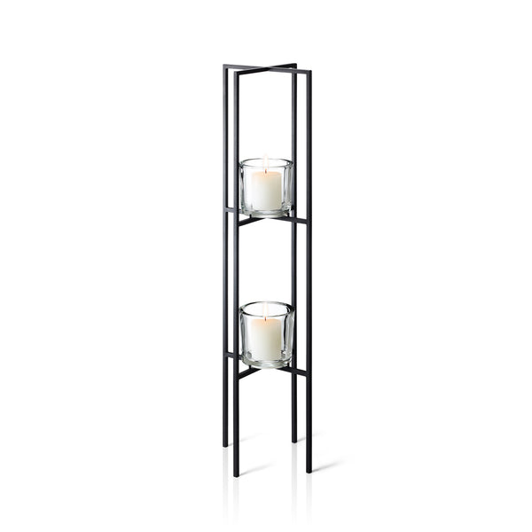 Freestanding Sculpture Candle Holder, 2 Tier