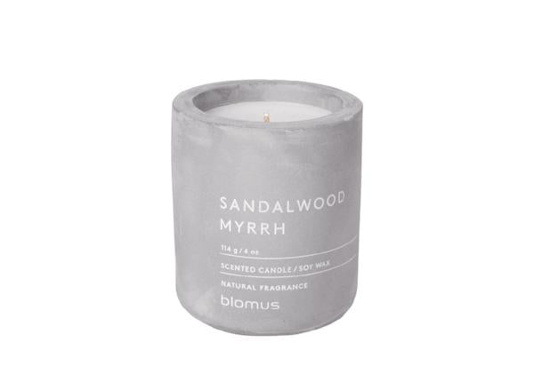 Scented Candle In Concrete Container - Small - Micro Chip