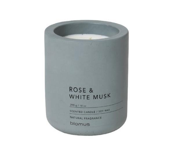 Scented Candle in Concrete Container - Large - Rose Dust