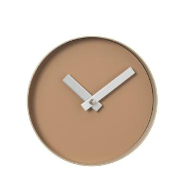 Rim Wall Clock 8 Inch Tan