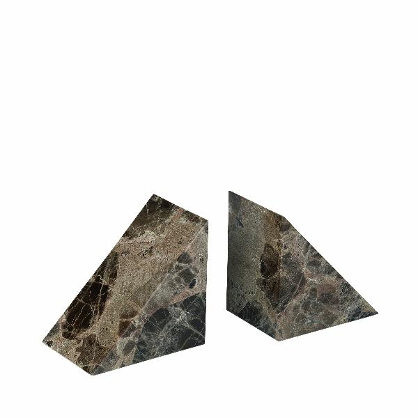 PESA Marble Bookends Brown