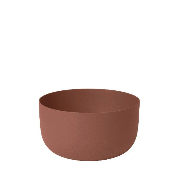 Steel Bowl Rustic Brown