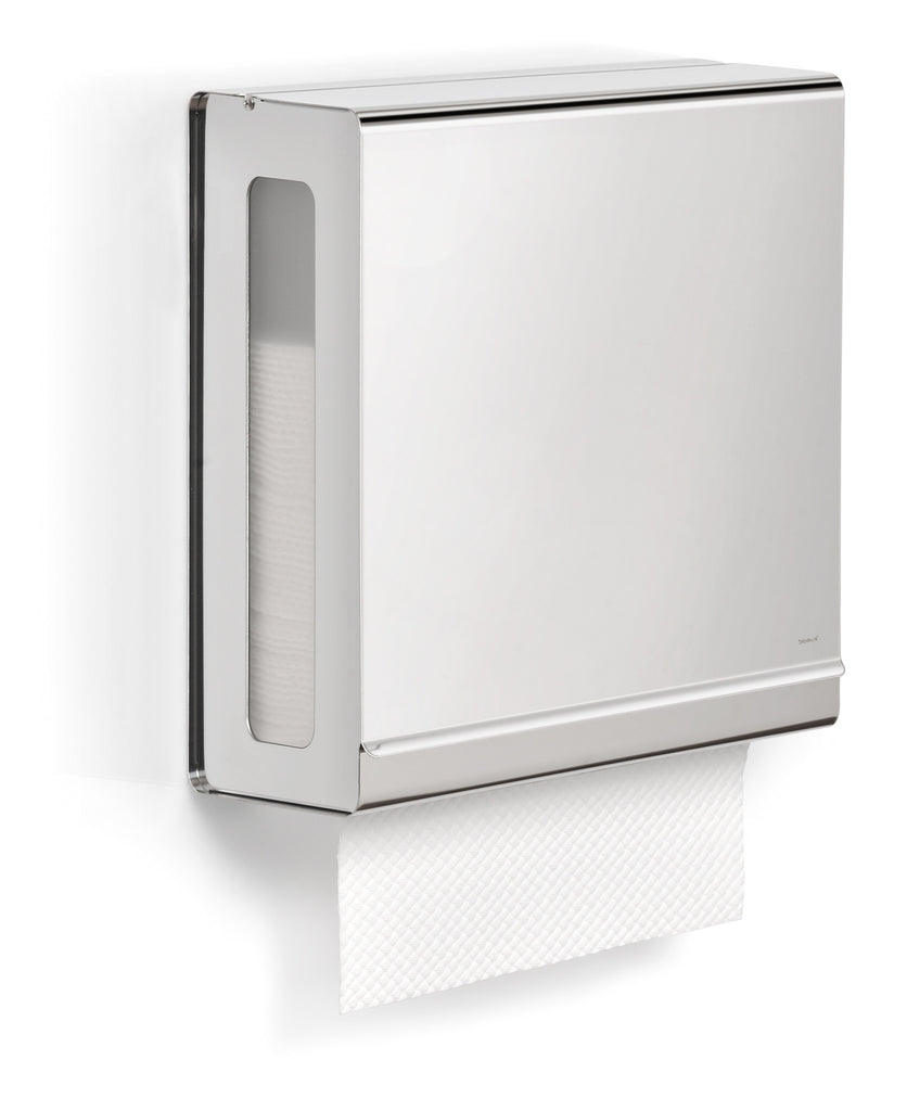 Wall Mounted Paper Towel Holder wall mounted paper towel dispenser for c-fold towels - polished