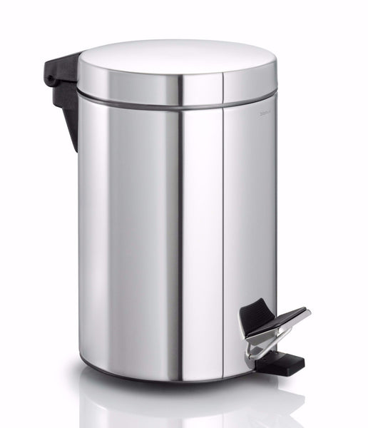 Pedal Bin Wastepaper Basket - Polished