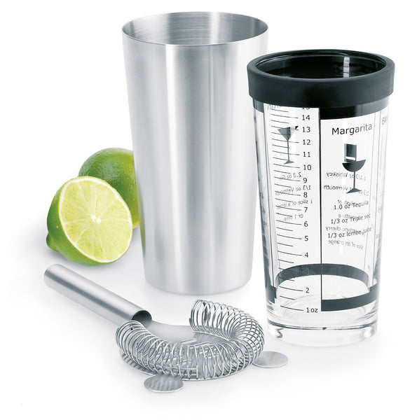 Stainless Steel Boston Cocktail Shaker Set