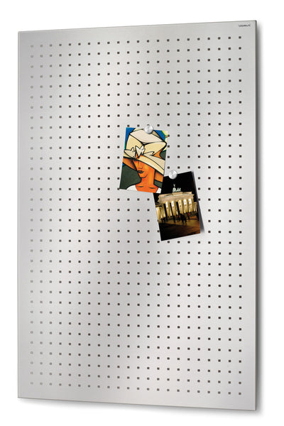 Magnetic Bulletin Board Perforated 24 x 35 Inches