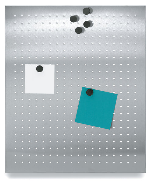 Magnetic Bulletin Board Perforated 15 x 20 Inches