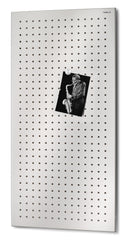 Magnetic Bulletin Board Perforated 16 x 31 Inches