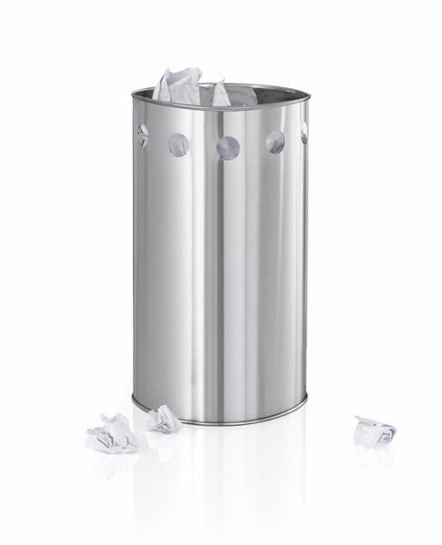 Stainless Steel Wastepaper Basket 3.5 Gallon - Circles