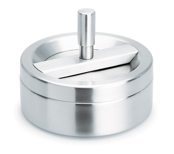 Stainless Steel Ashtray W/Spinning Top