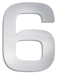 Stainless Steel House Number 6