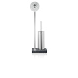 Toilet Butler With Tall Brush Holder - 1 Roll Polished