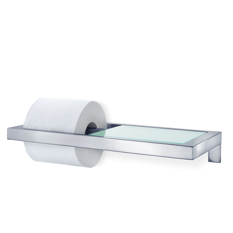 wall mounted toilet paper holder. Wall Mounted Toilet Paper Holder - W/Glass Shelf Menoto