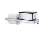 Wall Mounted Toilet Paper Holder - W/Glass Shelf - Menoto