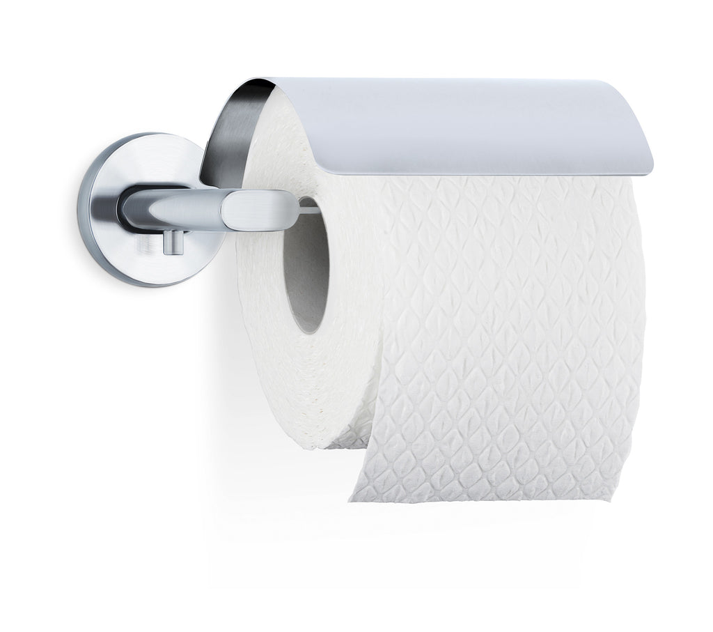 Wall Mounted Toilet Paper Holder With Cover Areo Blomus