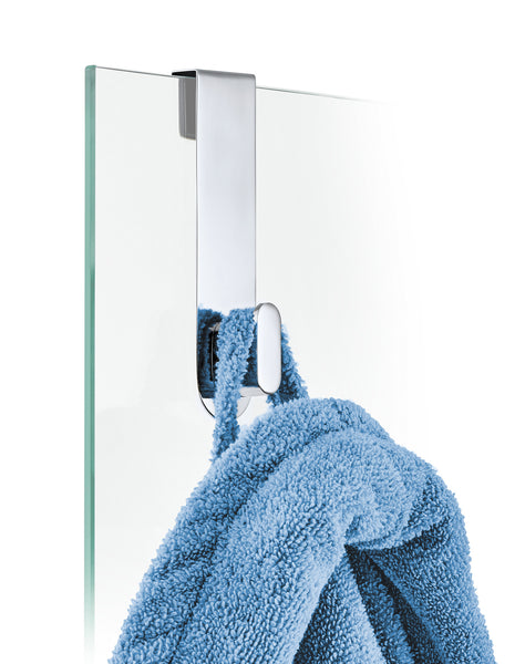 Glass Door Shower Hook - Polished - Areo