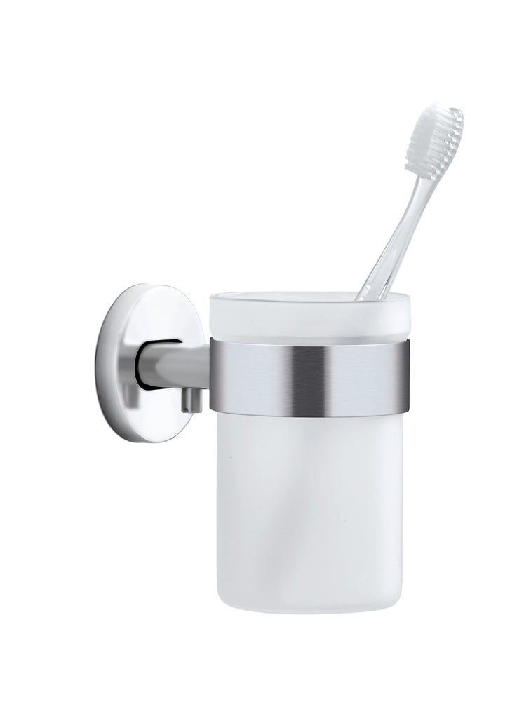 Wall Mounted Toothbrush Holder Frosted Glass – blomus
