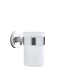 Wall Mounted Toothbrush Holder Frosted Glass