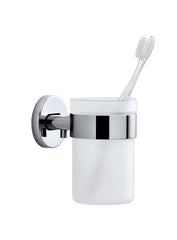 Wall Mounted Toothbrush Holder Frosted Glass - Polished