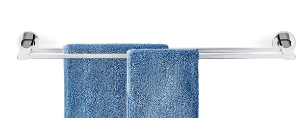 Towel Rail Double - 27 Inches - Polished - Areo