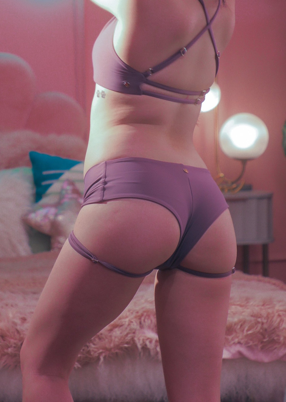 Carla shorts Misty Mauve
