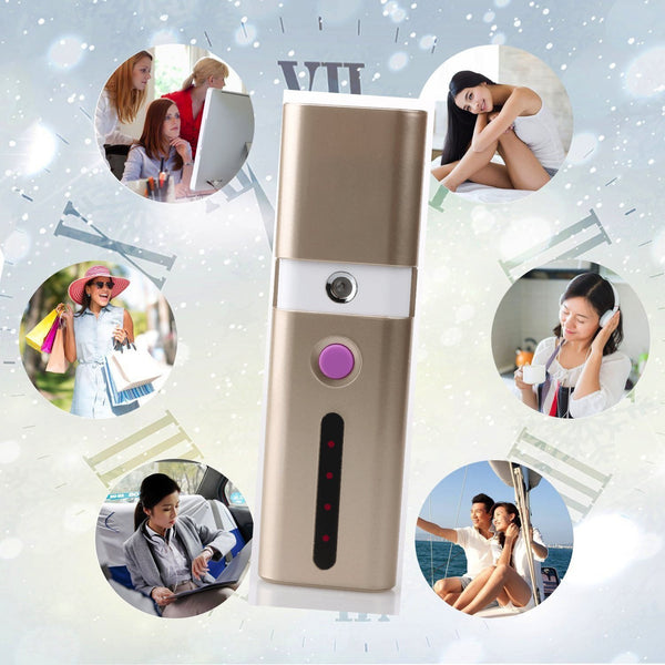Nano Ionic Cool Mist Facial Mister with 3000 mAh Power Bank Phone Charger