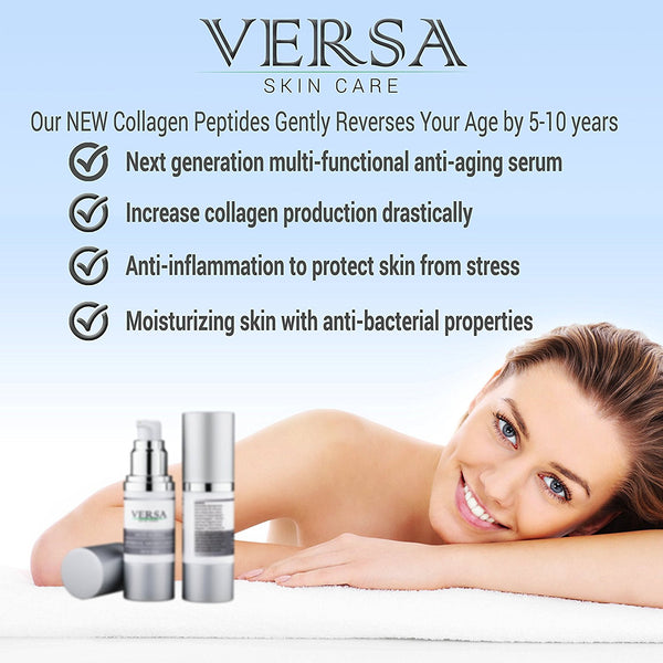 Collagen Peptides Serum - diminish wrinkles by replenishing collagen with advanced peptides complex