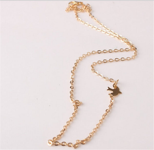 Simple Bird Chain Necklace