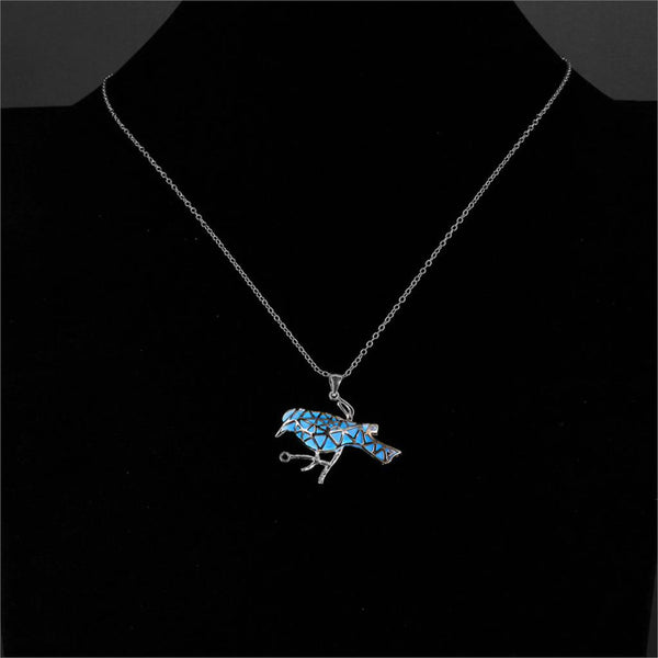 Glow In the Dark Bird Necklace