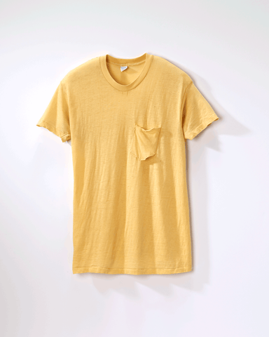 1980s Vintage Blank Yellow T-Shirt