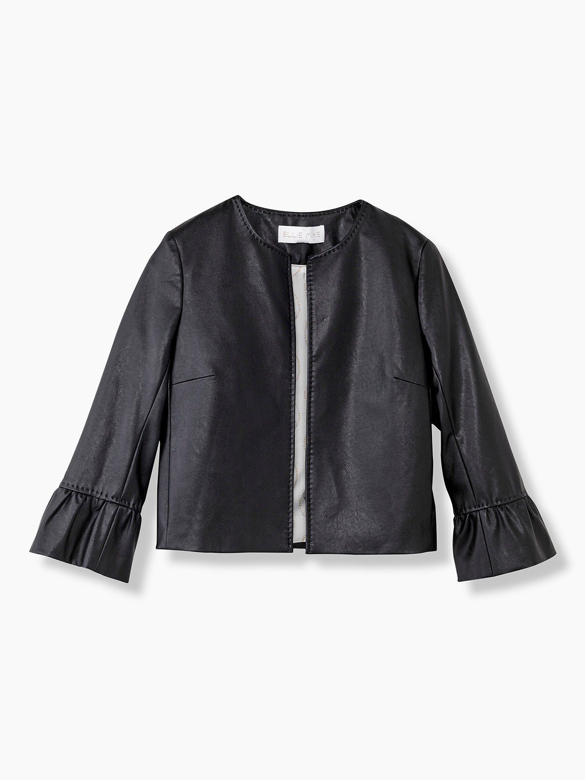 e3e7560d8a55 Spring Summer Faux Leather Jacket in Black for Ladies - DJ - Ellie Mae